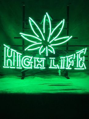 High Life Neon Sign In 2020 Neon Signs Dark Green Aesthetic Green Aesthetic