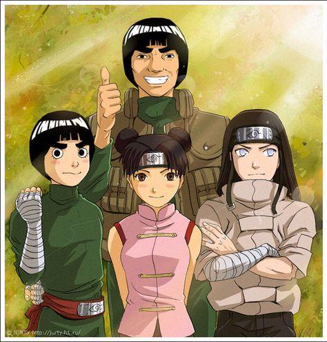 Naruto: Gai Senseis Team - Rock Lee, Ten Ten and Neji 😚