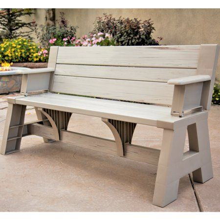 Premiere Products 5rcat Resin Convert A Bench Walmart Com Convert A Bench Outdoor Furniture Outdoor Decor