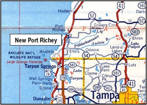Where Is New Port Richey Florida On Florida Map.New Port Richey Is A City In Pasco County Florida Finding The