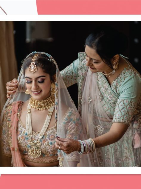 One of the most emotional yet happy feelings for a mother is to watch her daughter get all dressed up like a bride on her big day. It is at that moment that she realizes her little girl has grown up. We want you to cherish every small and big moment of the beginning of this beautiful phase in your life. #motherdaughter #weddingseason #weddingplangoa #mumbaiweddingphotographer #weddingplannermumbai #weddingplanningtips #shaadi #marriage #shaadimubarak