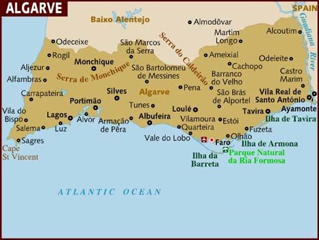 AlgarveMap Things To Do In Algarve Went To Faro As Well As - Quarteira portugal map