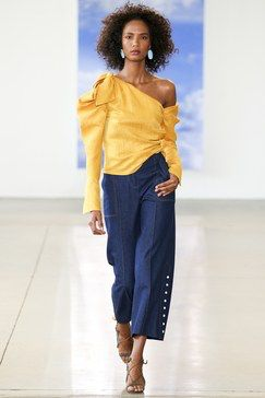 one shoulder Hellessy Spring 2018 Ready-to-Wear  Fashion Show Collection