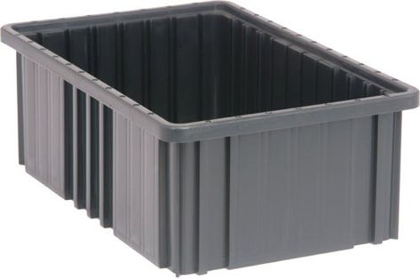 Quantum Storage Systems Dg92060co Dividable Grid Container 16 1 2 Inch Long By 10 7 8 Inch Wide By 6 Inch Black Conductive Storage System Storage Storage Bins