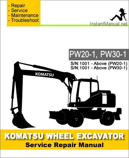 Download Komatsu Wheel Excavator PW20-1 PW30-1 Service
