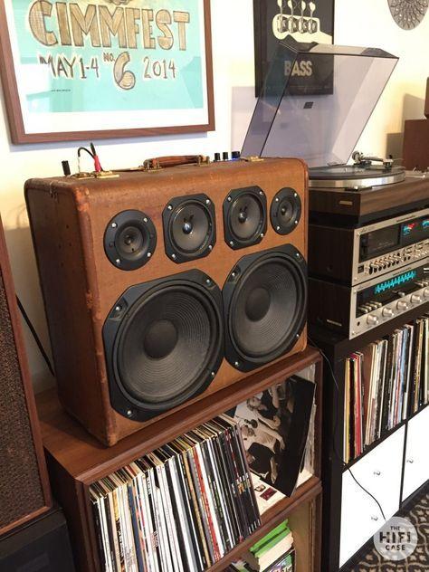 The Hifi Case Suitcase Speaker Record Player Hifi Diy Boombox