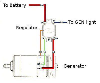 1972 Vw Beetle Voltage Regulator Wiring Diagram : 47