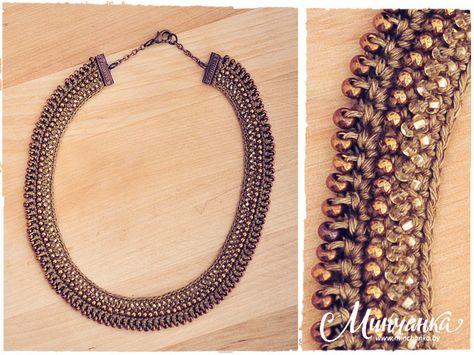 Julia Kolbaskina beaded crochet necklace design.