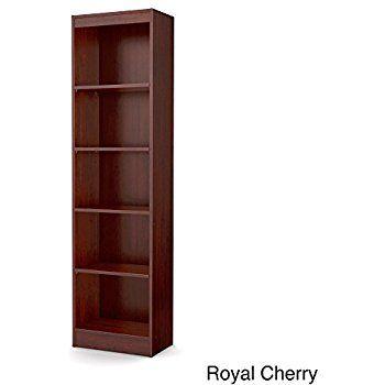Skinny Bookcase Tall Skinny Bookshelf Royal Cherry 5 Shelf