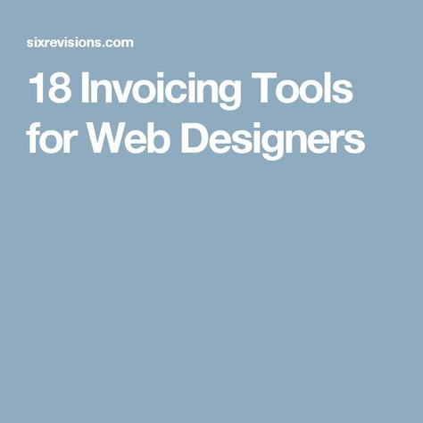 18 Invoicing Tools for Web Designers