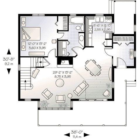 House Plan 3 Beds 1 5 Baths 1597 Sq Ft Plan 23 513 House Plans Modern House Plans House Floor Plans
