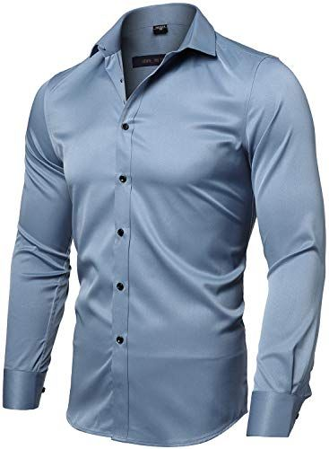 GLORYA Mens Slim Fit Summer Short Sleeve Classical Casual Button Down Shirts