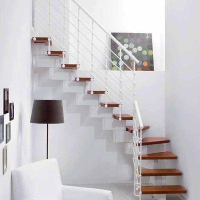 Escalier En L Metal Et Bois Magia 90xtra L 70 Cm 11 Marches Blanc