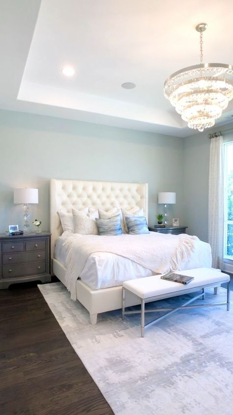 Master Bedroom with Light Blue Walls #bedroomideas #bedroomideas #bedroomideasapartment #bedroomideasboho #bedroomideascozy #bedroomideasdiy #bedroomideasforcouples #bedroomideasforsmallrooms #bedroomideasforteengirls #bedroomideasforwomen #bedroomideasmaster #bedroomideasminimalist #cutebedroomideas #greybedroomideas #guestbedroomideas #mensbedroomideas #modernbedroomideas #romanticbedroomideas #rusticbedroomideas #simplebedroomideas #vintagebedroomideas