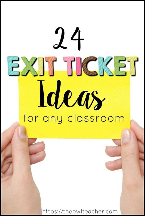 Exit Ticket Ideas Read this post to get exit ticket ideas on how you can engage students with exit slips and still assess your students!Read this post to get exit ticket ideas on how you can engage students with exit slips and still assess your students! Instructional Strategies, Teaching Strategies, Teaching Tips, Teaching Art, Student Self Assessment, Summative Assessment, Formative Assessment Strategies, School Teacher Student, Student Teaching