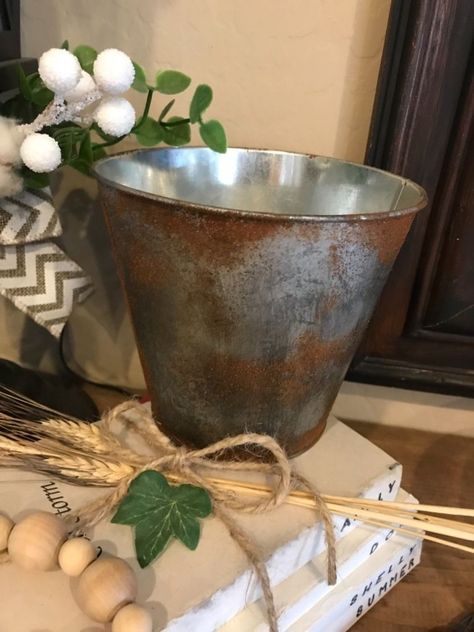 Shabby Chic Vintage Chalk Paint French Style Planter Buckets Handmade by AllChic