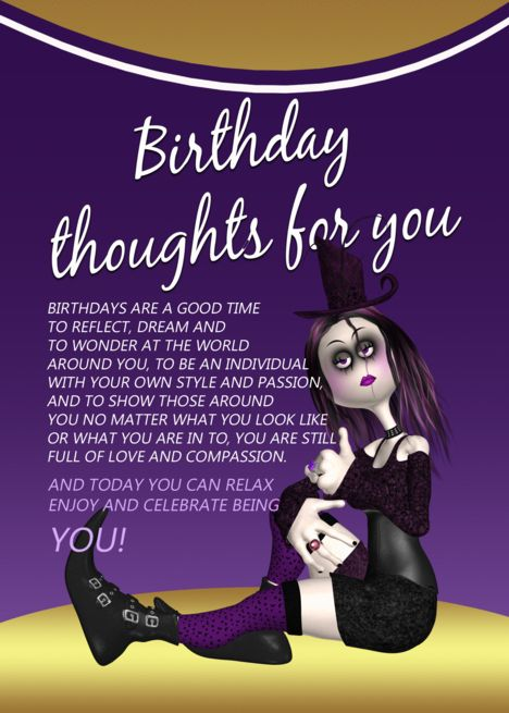 Gothic Birthday Card Birthday Thoughts For You Rag Doll Goth Card Ad Spon Card Birthday Gothic Thoughts Birthday Cards Thoughts Birthday