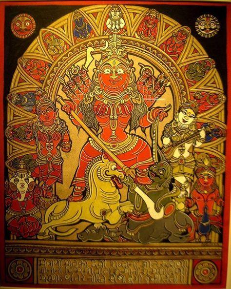 madi.naidu77Shri Mahisasura Mardini   Poster art, Indian art, Art