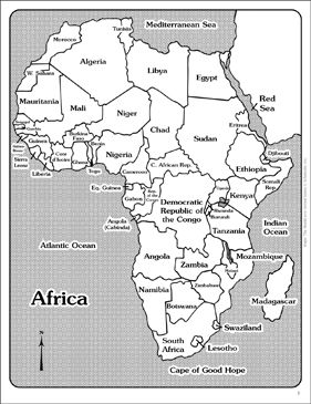 Maps of Africa (Labeled and Unlabeled) by Scholastic ...