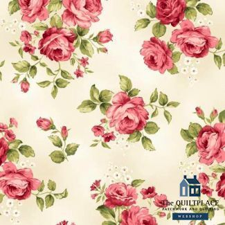 Cream Large Floral The Quiltplace Webshop Cupcakes Wallpaper Flannel Fabric Etsy Designs