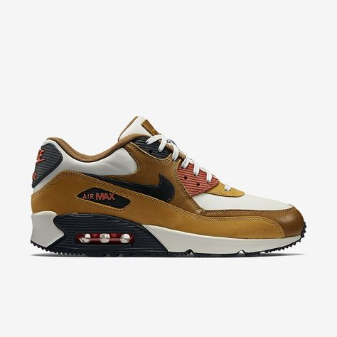 new style b0aa6 9d431 Nike Air Max 90 Escape Men s Shoe. brown, white and black leather