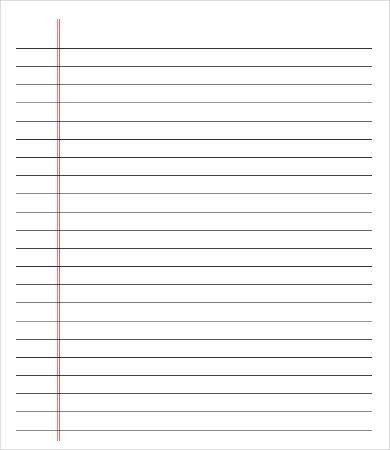 Printable College Ruled Paper Lined Paper Pdf Wide Ruled Notebook Paper Template Paper Template Ruled Paper