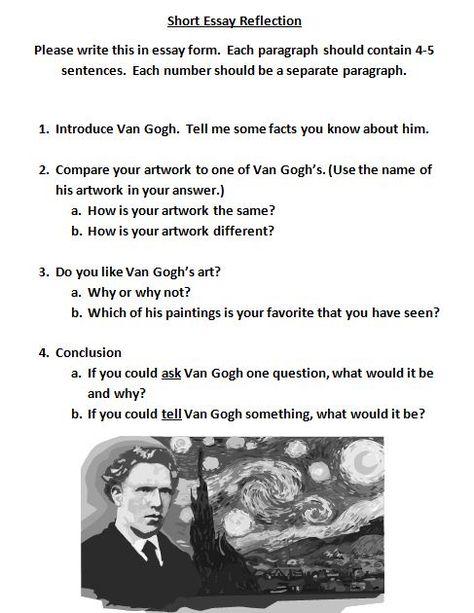 Van Gogh unit with Common Core
