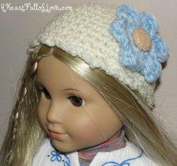 18 inch Doll Winter Hat | Free Crochet Pattern