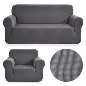 Polar Fleece Fabric Universal Sofa Cover Stretch Pattern Checked