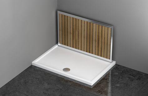 Risultati immagini per piatto doccia doghe in legno nel