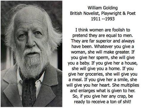 William Golding - https://www.facebook.com/photo.php?fbid=1188430051190228 More