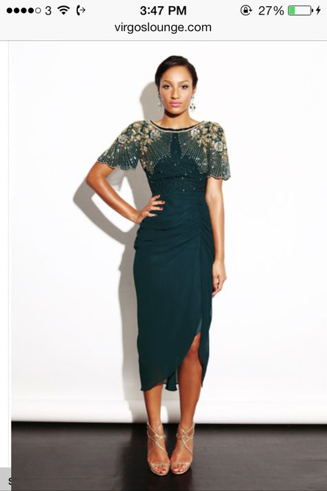 Forest green Dress by Virgo's Lounge sequin summer midi