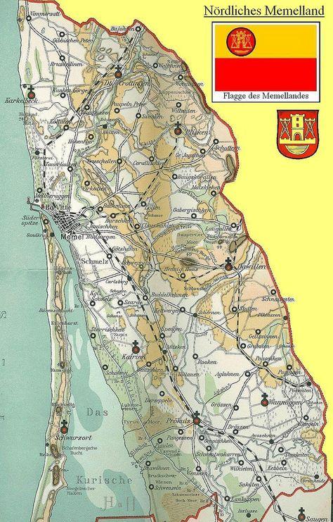 Kurische Nehrung Karte.004 Kreis Memel Karte Ostpreussen Ostpreussen Karte