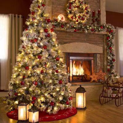 Sapin de Noël et cheminée Animée – Fond écran Vidéo Gratuit en