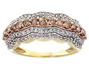 Jtv Diamond Rings >> Champagne Diamond 14k Rose Gold Over Sterling Silver