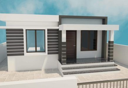 Best 2bhk Modern Home Plan Below 8 Lakhs Modern House Plans House Plans House Construction Plan