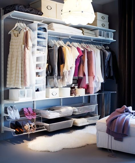 Ikea Algot - for our fitted wardrobe