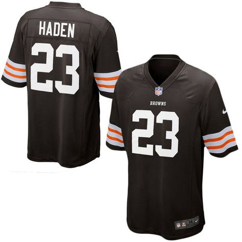 6a353a23897 ... Joe Haden Cleveland Browns Historic Logo Nike Youth Team Color Game  Jersey - Brown Joe haden ...