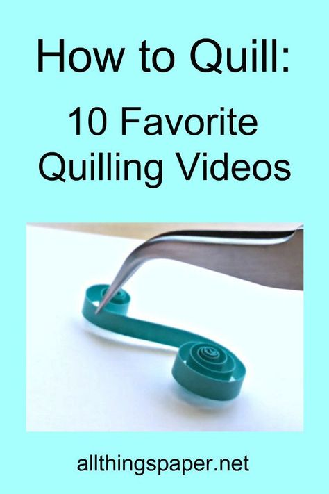 Whether you are new to this beautiful paper craft or in need of fresh ideas, this round up of quilling tutorial videos will be super-helpful AND there's a great bonus one too. Neli Quilling, Diy Quilling Crafts, Quilling Videos, Paper Quilling For Beginners, Paper Quilling Cards, Paper Quilling Flowers, Quilling Work, Paper Quilling Patterns, Paper Quilling Jewelry
