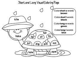 Image Result For Free Fun Long Vowel Color Worksheets Long Vowels Phonics Printables Color Worksheets