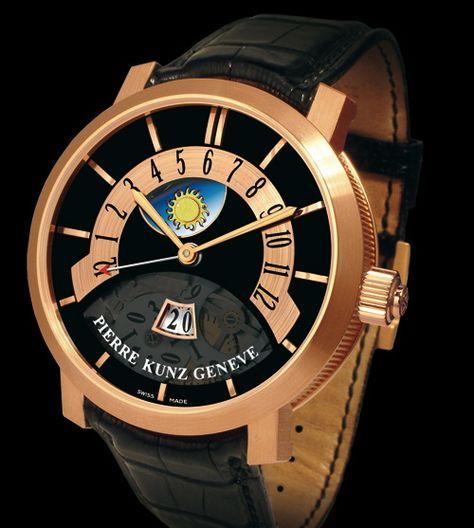 Pierre Kunz uit Zwitserland 18Krt goud limited edition 200 stuks wereldwijd met automaat uurwerk € 28500,-