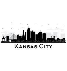 Kansas City Missouri Skyline Silhouette With Vector City Silhouette Kansas City Skyline City Skyline Silhouette