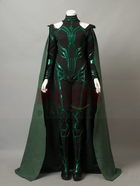 Ragnarok The Goddess of Death Hela Cosplay Costume /& Boots mp003792 Ver.B Thor
