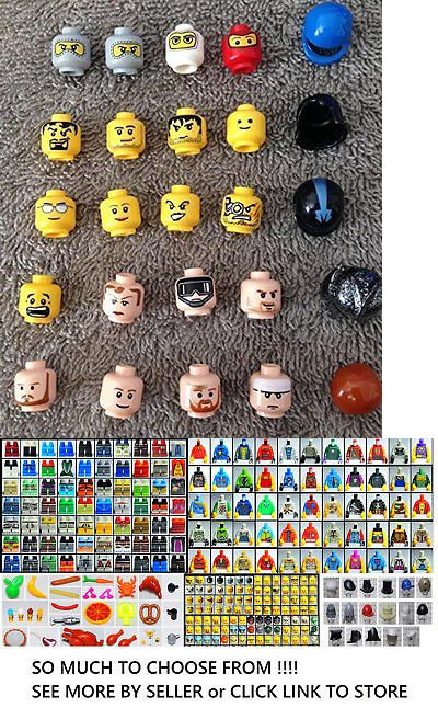 ☀️NEW Lego x25 Head Pieces Lego Minifigures minifig mini figure fig parts