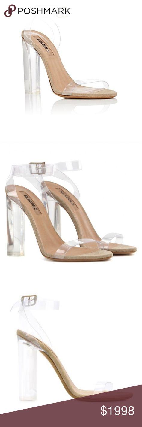 c1799e337 Yeezy Season 2 Lucite PVC Heel Sandals Yeezy Season 2 Lucite PVC Heel  Sandals BRAND NEW