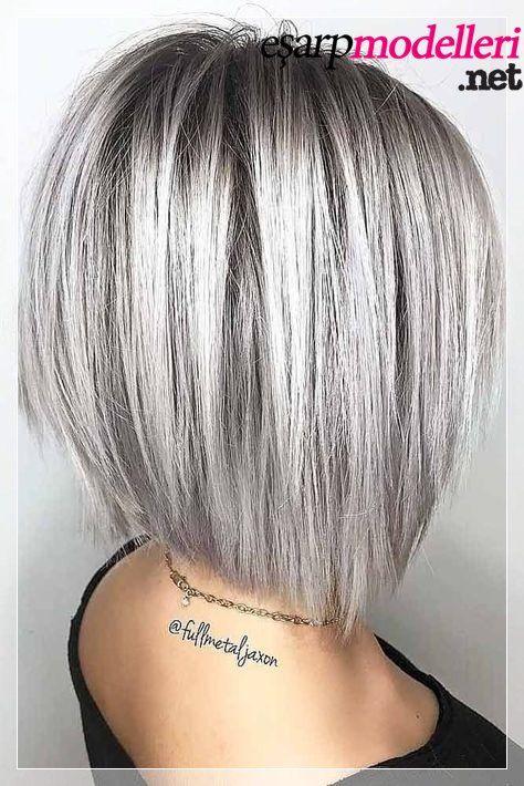 Kut Beyaza Calan Gri Sac Modeli 2019 Sac Sari Duz Sac