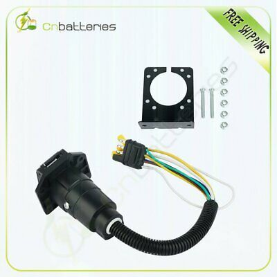 Sponsored Ebay 4 Flat To 7 Way Rv Trailer Light Plug Wire Harness Converter Adapter For Caravan In 2020 Rv Trailers Camper Parts Caravan