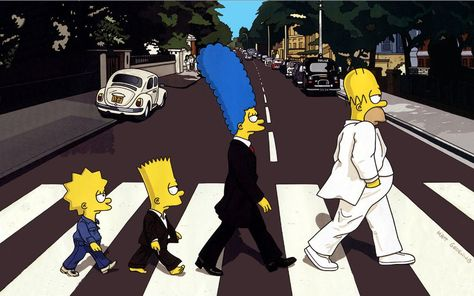 Wallpaper The Simpsons, Lisa, Bart, Marget, The Beatles • Wallpaper For You HD Wallpaper For Desktop & Mobile