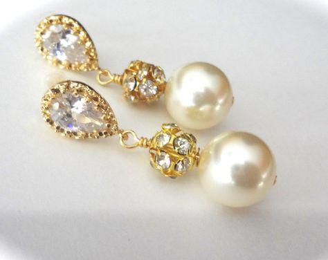 Demoiselle D/'honneur Collier Boucles d/'oreilles Bracelet Ensemble en Champagne Perle Mariage Bijoux Set