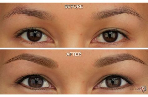Permanent Makeup eyebrows before and after photos by MicroArt